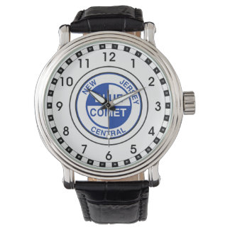 New Jersey Central Blue Comet Train Logo Wrist Watch