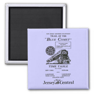 New Jersey Central Blue Comet Train Fridge Magnets