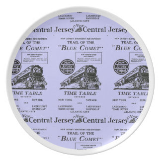 New Jersey Central Blue Comet Train Melamine Plate