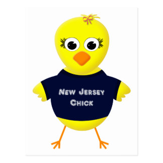 New Jersey Chick Cute Cartoon Chicken Postcard