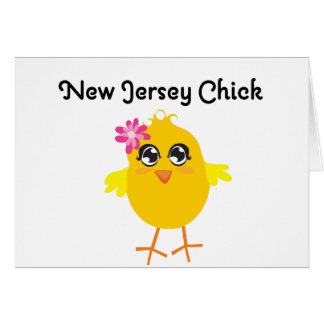New Jersey Chick Greeting Card
