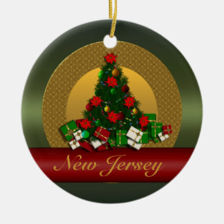 New Jersey Christmas Tree Ornament