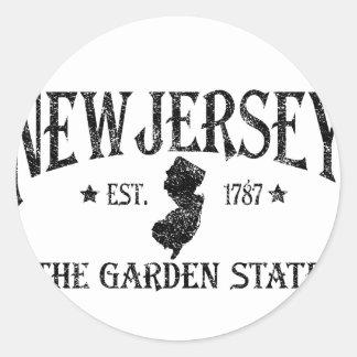 New Jersey Classic Round Sticker