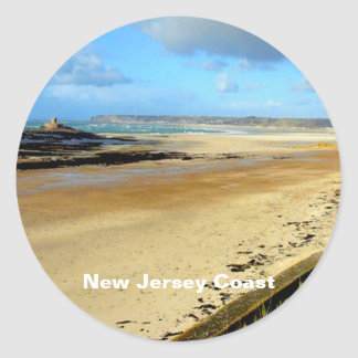 New Jersey Coast, NJ Classic Round Sticker
