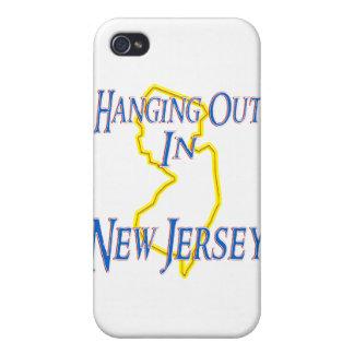 New Jersey - colgando hacia fuera iPhone 4 Cárcasas