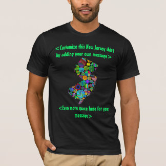 New Jersey Colorful Custom T-Shirt - YOU Customize