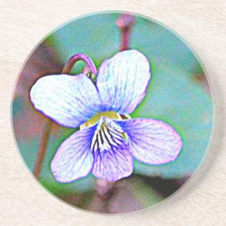 New Jersey Common Violet Beverage Coaster