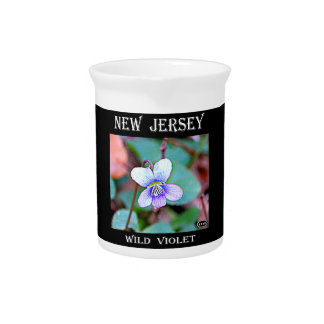 New Jersey Common Violet Beverage Pitcher