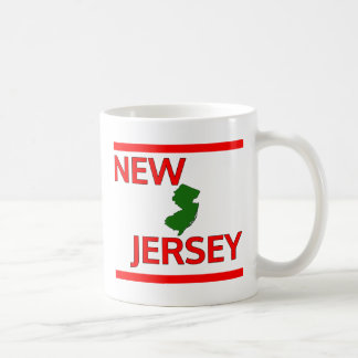 New Jersey con el esquema del estado Taza