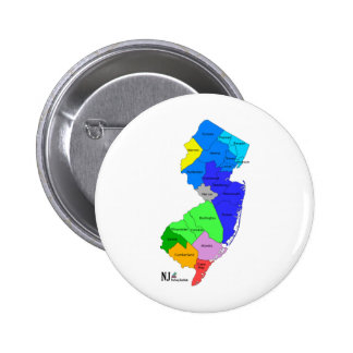 New Jersey Counties in Color Button