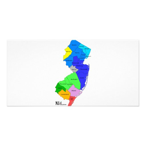 New Jersey Counties in Color Photo Card