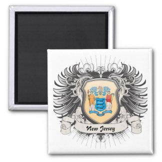 New Jersey Crest Fridge Magnet
