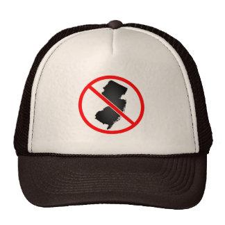 New Jersey Cross Out Symbol Trucker Hat