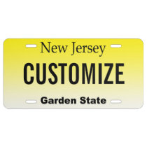 New Jersey Customized Vanity License Plate