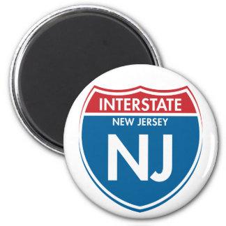 New Jersey de un estado a otro NJ Imán Redondo 5 Cm