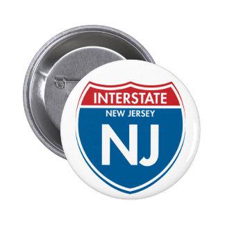 New Jersey de un estado a otro NJ Pin Redondo De 2 Pulgadas