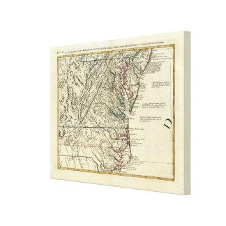 New Jersey, Delaware, Virginia, North Carolina Gallery Wrap Canvas