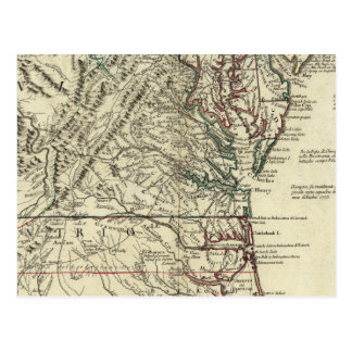 New Jersey, Delaware, Virginia, North Carolina Postcard