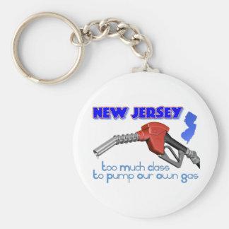 New Jersey: Demasiada clase para bombear nuestro p Llavero Redondo Tipo Pin
