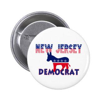 New Jersey Democrat Pinback Buttons