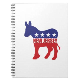 New Jersey Democrat Donkey Notebook