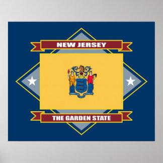 New Jersey Diamond Poster