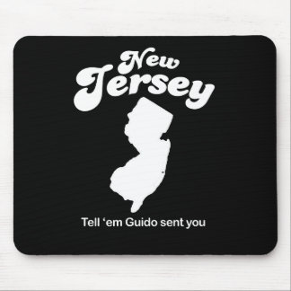 New Jersey - diga em Guido enviado le la camiseta Tapetes De Ratón
