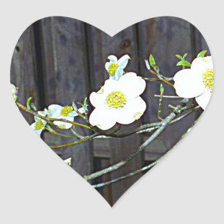 New Jersey Dogwood Heart Sticker
