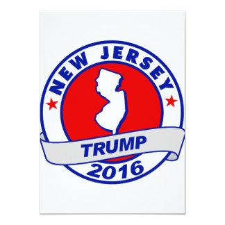 """New Jersey Donald Trump 2016 Invitación 5"""" X 7"""""""