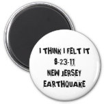 New Jersey Earthquake 2 Inch Round Magnet