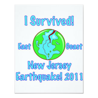 New Jersey Earthquake of 2011 Card