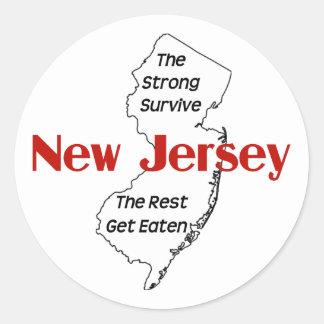 New Jersey: el fuertes sobreviven, el resto Pegatina Redonda