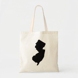 New Jersey en blanco y negro Bolsa Tela Barata