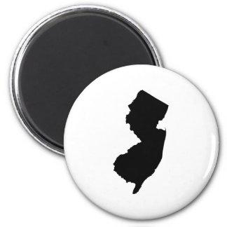 New Jersey en blanco y negro Imán Redondo 5 Cm