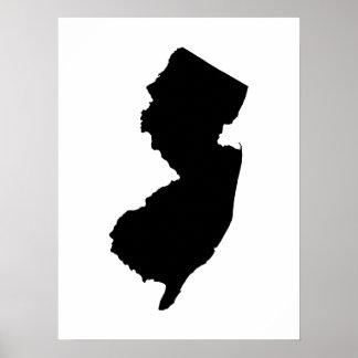 New Jersey en blanco y negro Posters