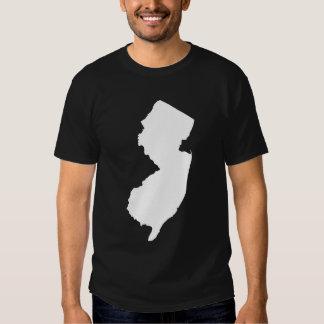 New Jersey en blanco y negro Playera