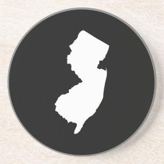 New Jersey en blanco y negro Posavasos Manualidades