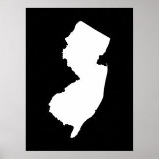 New Jersey en blanco y negro Póster