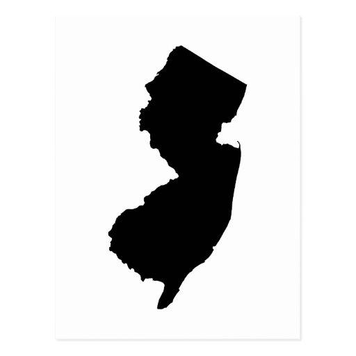New Jersey en blanco y negro Tarjeta Postal