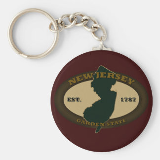 New Jersey Est. 1787 Llavero Redondo Tipo Pin