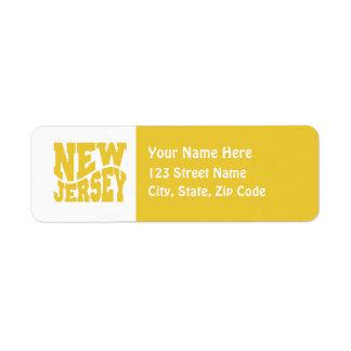 New Jersey Etiqueta De Remitente