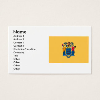 New Jersey Flag Business Card