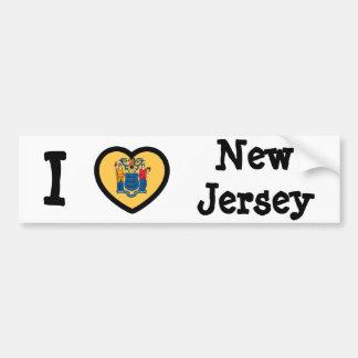 New Jersey Flag Car Bumper Sticker