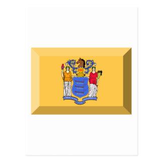 New Jersey Flag Gem Postcard