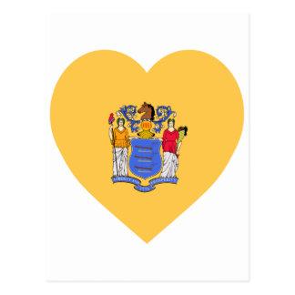 New Jersey Flag Heart Postcard