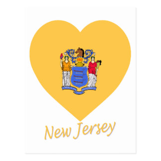 New Jersey Flag Heart Post Cards