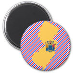 New Jersey Flag Map Magnets