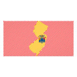 New Jersey Flag Map Photo Card