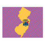 New Jersey Flag Map Post Cards