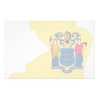 New Jersey Flag Map Custom Stationery
